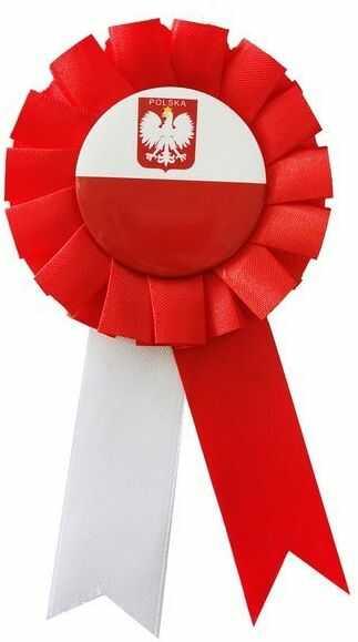 Kotylion Narodowy biało-czerwony 1 sztuka YH-KNBC