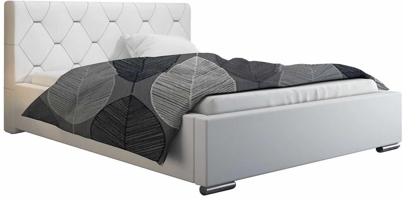 Łóżko małżeńskie ze schowkiem 140x200 Abello 3X - 48 kolorów