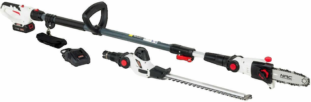 Urządzenie wielofunkcyjne PHCB18E-B15-S2 NAC Akumulatorowe: nożyce do żywopłotu + okrzesywarka do gałęzi