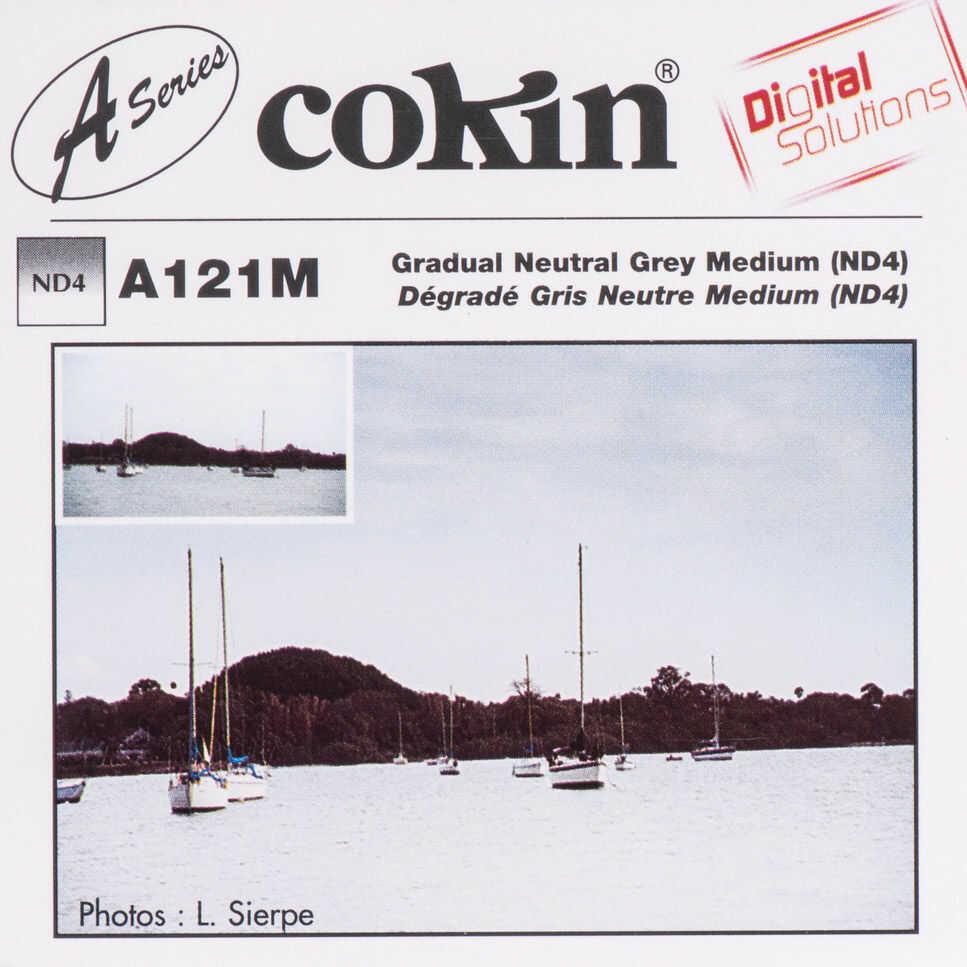 Filtr Cokin A121M rozmiar S połówkowy szary ND4