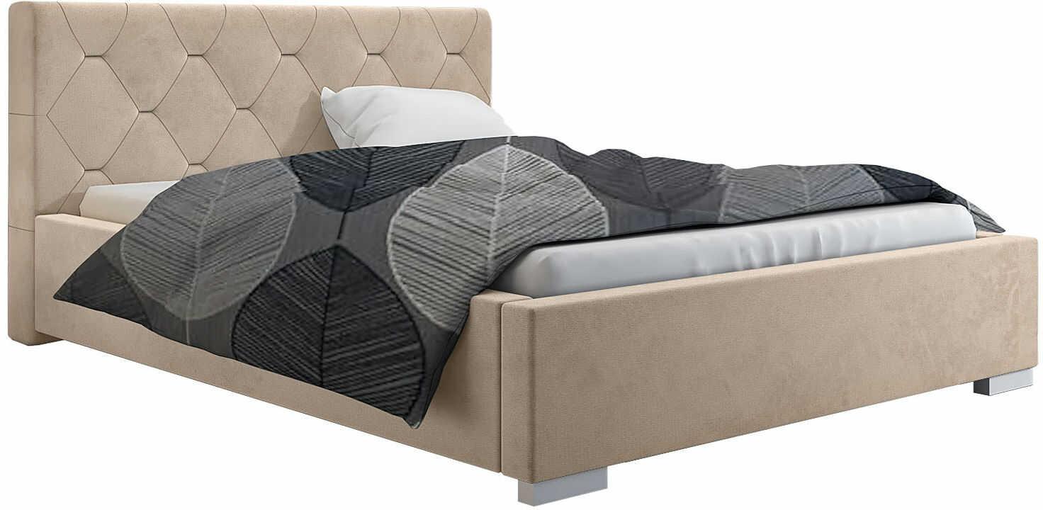 Tapicerowane łóżko z zagłówkiem 160x200 Abello 2X - 48 kolorów