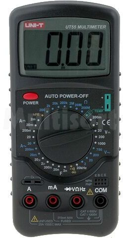 Multimetr cyfrowy UNI-T LCD 3,5 cyfry (1999) VAC:2/20/200/750V