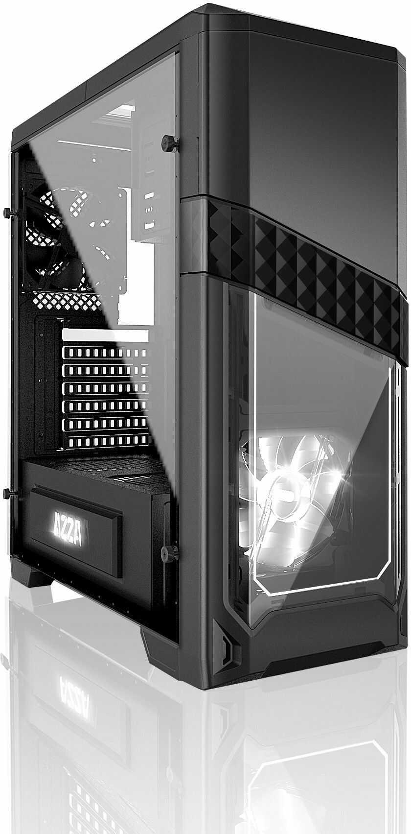 ATX AZZA TITAN 240X, 2xUSB 2.0, 2xUSB 3.0, BEZ ZASILACZA, CZARNY. WINDOW Darmowa dostawa, możliwośc zakupu na RATY . Wysyłamy pobraniowo
