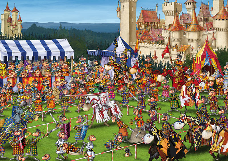 Puzzle Piatnik 1000 - Ruyer, Turniej rycerski, Knights'' Tournament