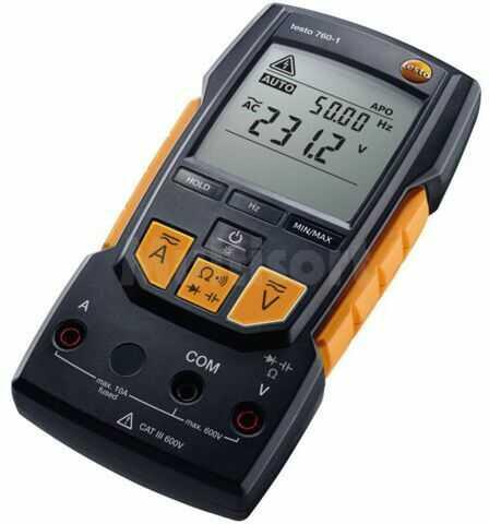 Multimetr cyfrowy TESTO VDC:0,1m 600V VAC:0,1m 600V I DC:1m 10A