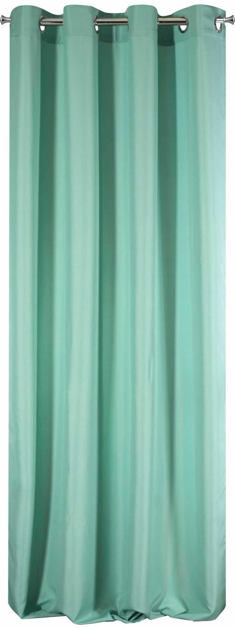 Design91 zasłona gładka, matowa, 8 oczek, miękka, 1 sztuka, nowoczesna, prosta do sypialni, pokoju dziecięcego, salonu, tkanina, mięta, 140 x 250 cm