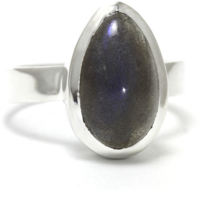 Kuźnia Srebra - Pierścionek srebrny, rozm. 19, Labradoryt, 5g, model