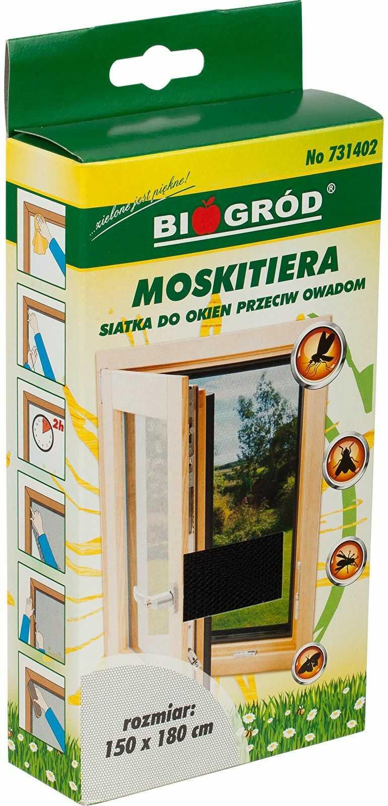 Moskitiera-siatka do okien przeciw owadom1,5x1,8m