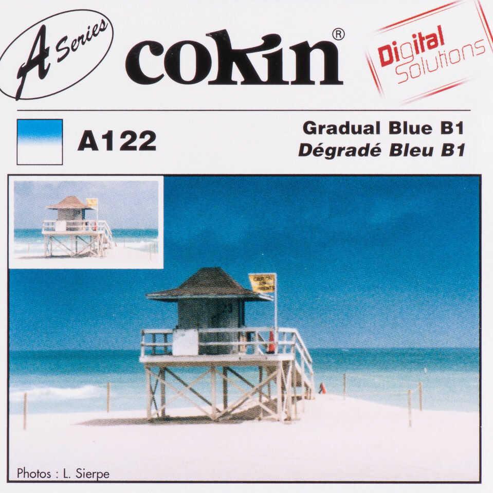 Filtr Cokin A122 rozmiar S połówkowy niebieski B1