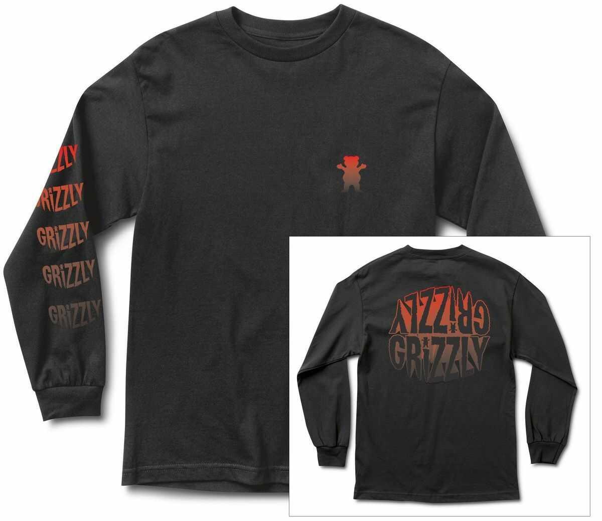t-shirt męski GRIZZLY FRIGHT NIGHT LS TEE Black