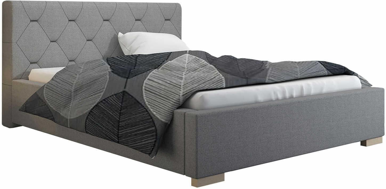 Dwuosobowe łóżko tapicerowane 180x200 Abello 2X - 48 kolorów