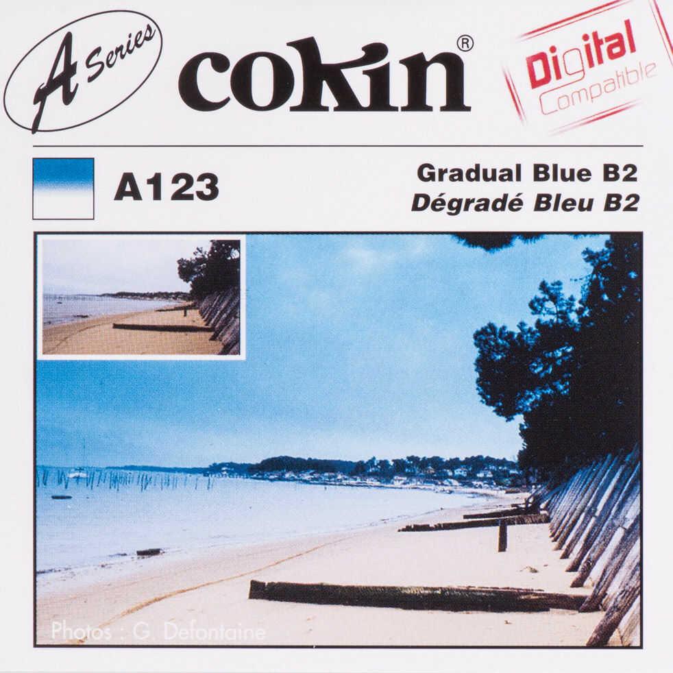 Filtr Cokin A123 rozmiar S połówkowy niebieski B2