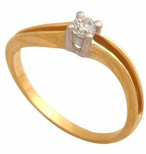 Złoty pierścionek zaręczynowy Pk678