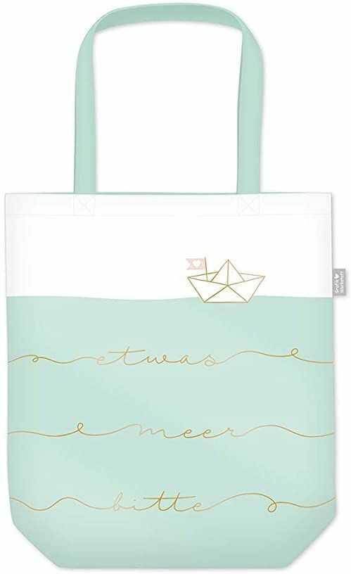 Grafik Werkstatt torba na zakupy z zabawnym napisem, składana torba na zakupy lekka torba, niebieski (wielokolorowa) - 62029