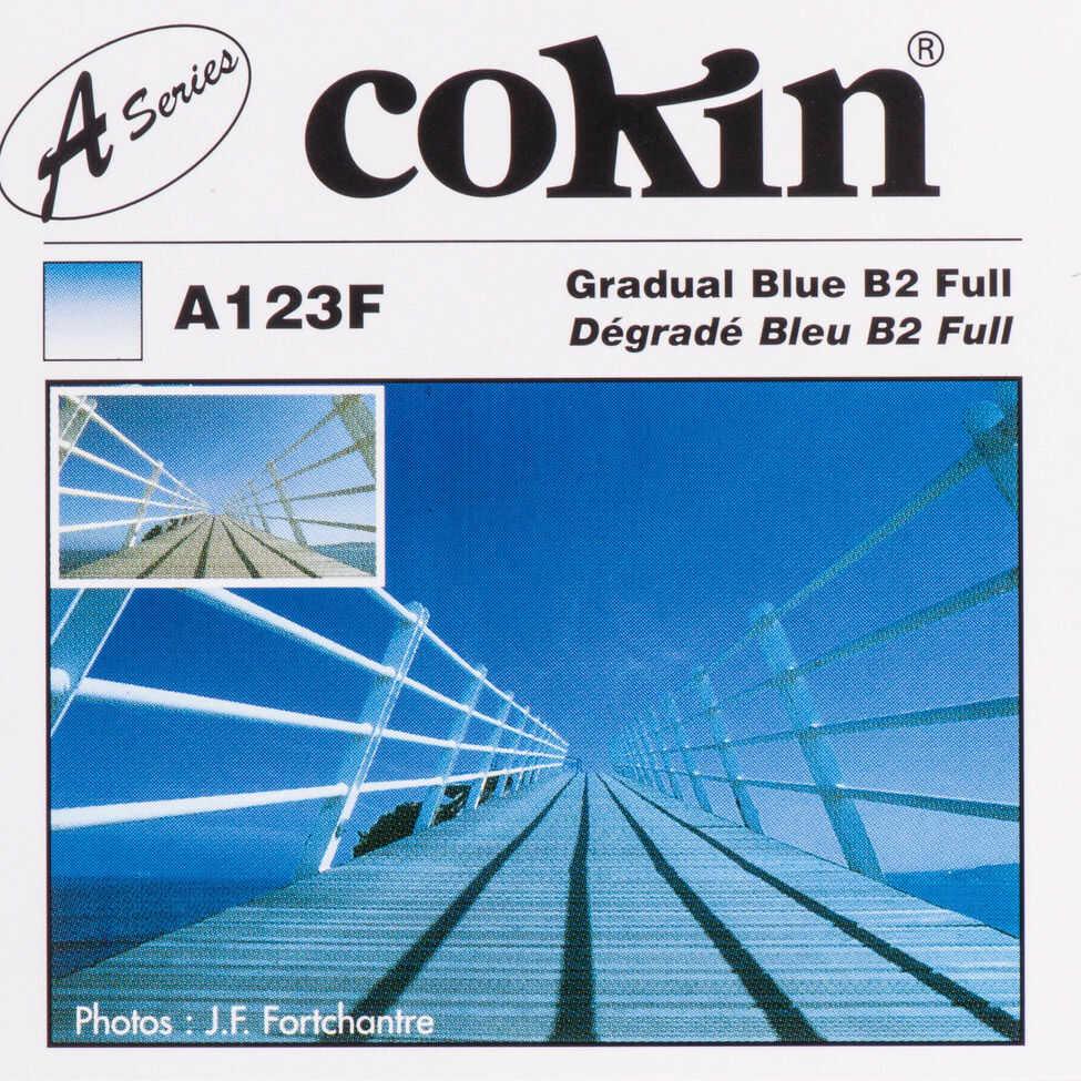Cokin A123F filter, size S, gradation blue