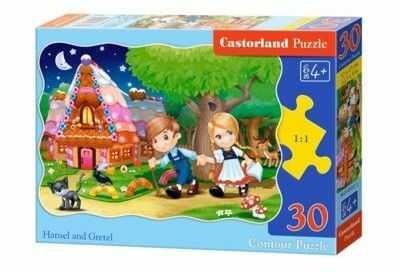 Puzzle Castor 30 - Jaś i Małgosia, Hansel and Gretel