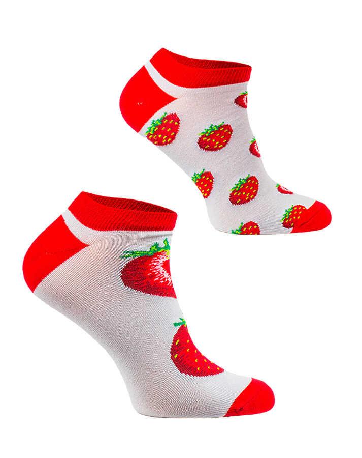Stopki, Strawberries, Todo Socks, Truskawki, Kolorowe Skarpetki