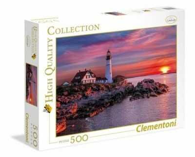 Puzzle Clementoni 500 - HQ - Latarnia Morska w Portland, Portland Head Light