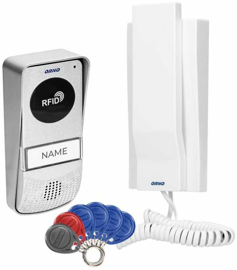 Domofon RFID jednorodzinny MIZAR biały ORNO