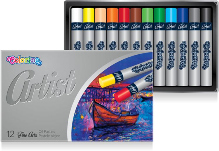 Pastele olejne ARTIST 12 kolorów Colorino 865702
