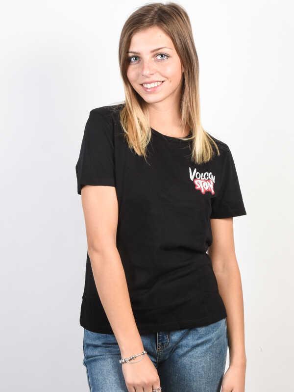 Volcom Skullactic Wave black t-shirt damski - S