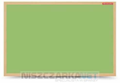 Tablica suchościeralna magnetyczna zielona w ramie drewnianej 60x40 cm