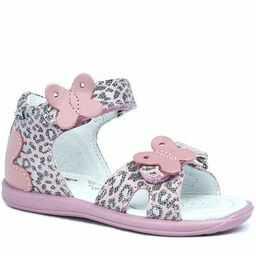 Bartek 11054002 sandałki sandały dziewczęce z motylkiem - jasny róż