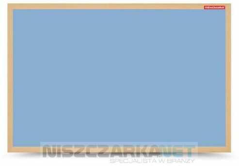 Tablica suchościeralna magnetyczna niebieska w ramie drewnianej 60x40 cm