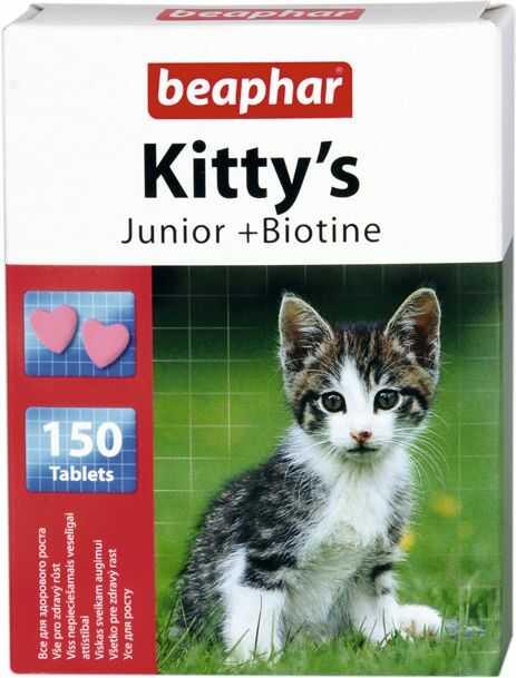 KITTY''S JUNIOR 150 szt - tabl.witaminowe dla młodych kotów