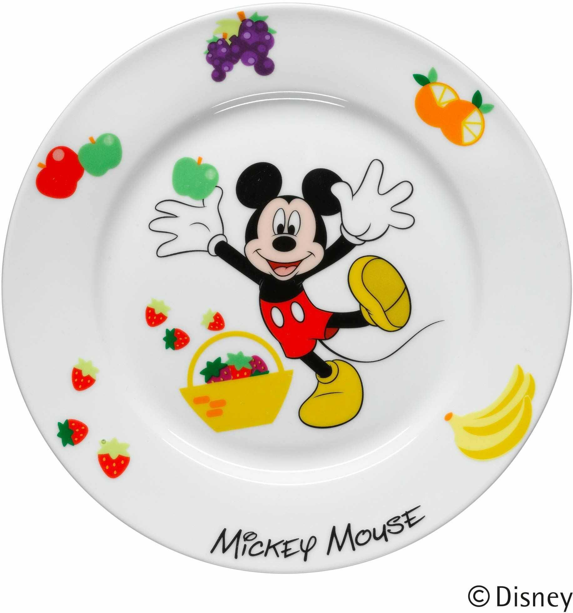 WMF Disney Mickey Mouse naczynia dziecięce, talerzyk dla dzieci, 19,0 cm, porcelana, nadaje się do mycia w zmywarce, nadaje się do kontaktu z żywnością