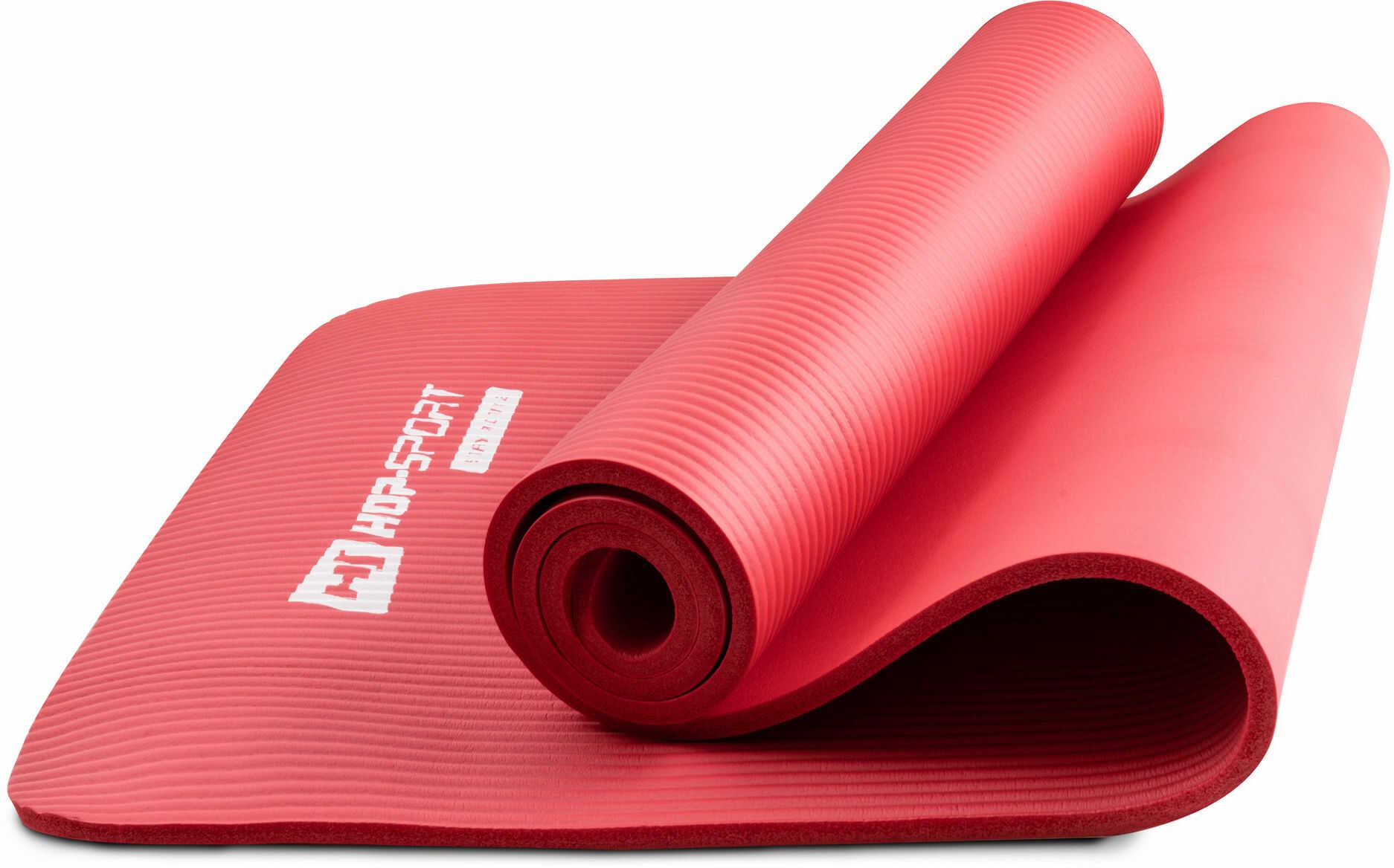 Mata fitness NBR 1cm czerwona