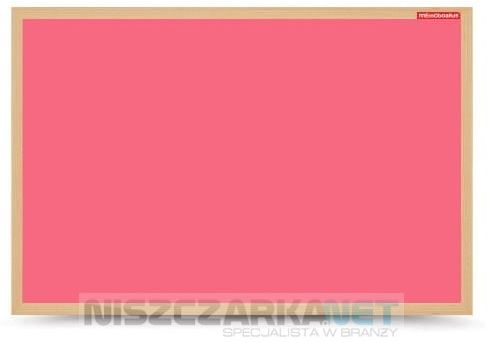 Tablica suchościeralna magnetyczna różowa w ramie drewnianej 60x40 cm