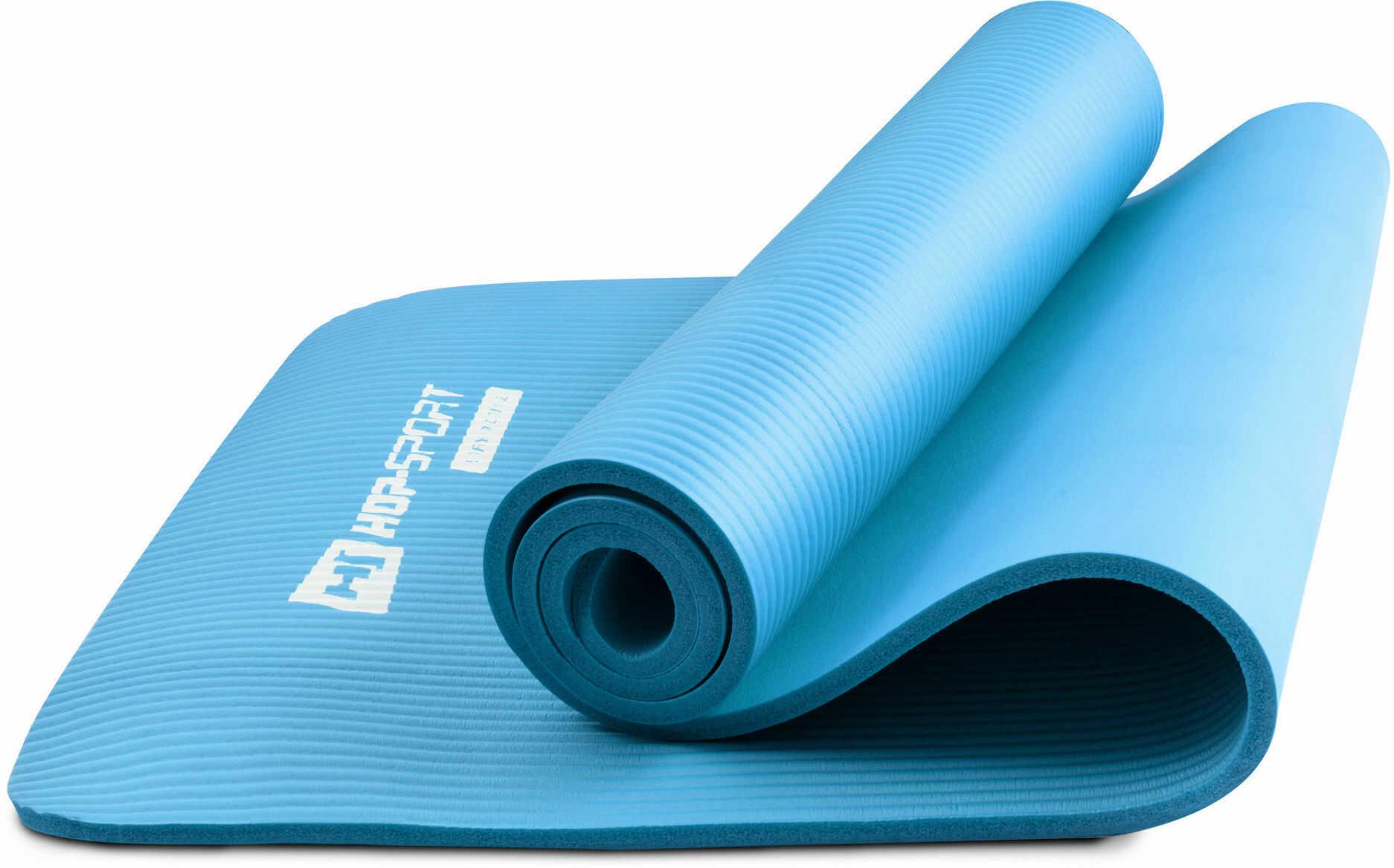 Mata fitness NBR 1cm niebieska