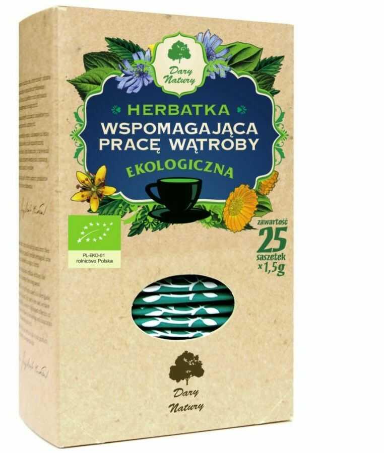 Herbata Wspomagająca pracę wątroby fix BIO 25*1,5g DARY NATURY