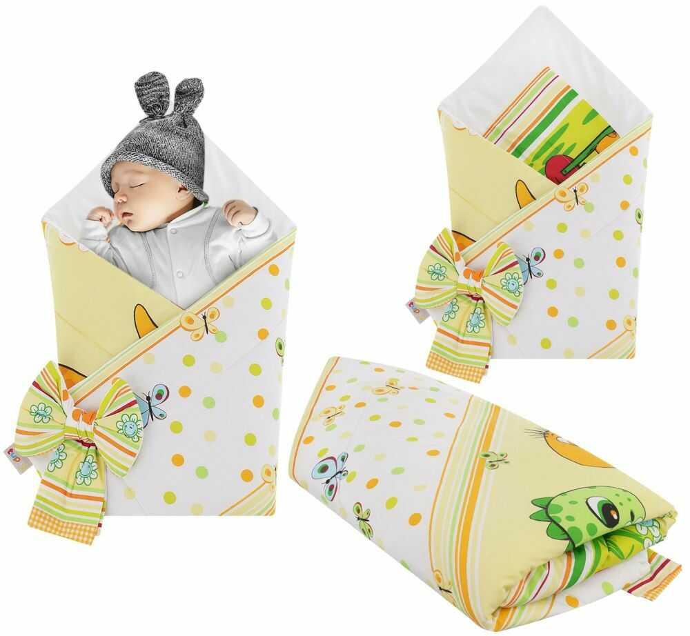 Rożek niemowlęcy bawełniany otulacz dziecięcy becik - DINO