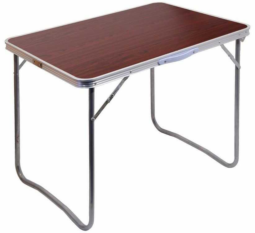 Składany stół kempingowy BALATON brązowy