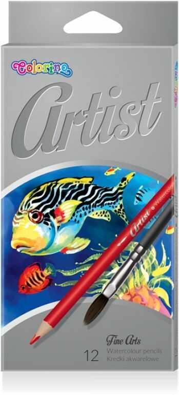 Kredki akwarelowe ARTIST 12 kolorów Colorino 865528