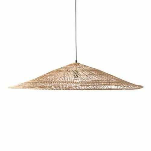 Lampa wisząca wiklinowa naturalna w kształcie trójkąta XL