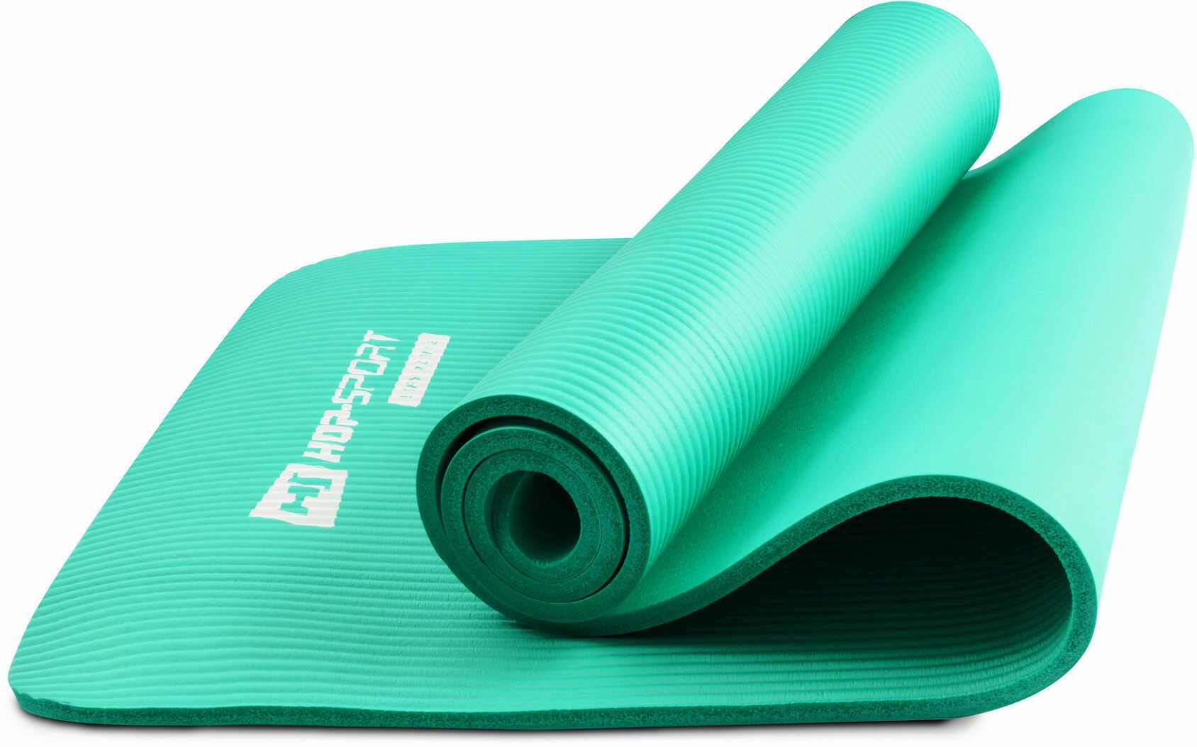 Mata fitness NBR 1cm turkusowa