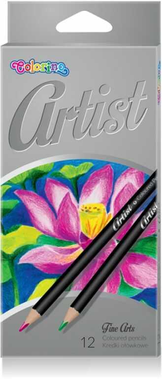 Kredki ołówkowe ARTIST 12 kolorów Colorino 865498