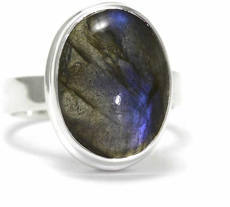 Kuźnia Srebra - Pierścionek srebrny, rozm. 14, Labradoryt, 6g, model