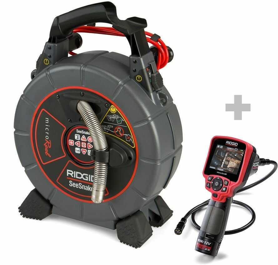 Kamera do rur SeeSnake microReel + Cyfrowa kamera inspekcyjna micro CA-350