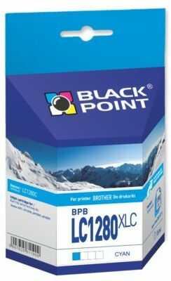 Wkład atramentowy BLACK POINT BPBLC1280XLC Zamiennik Brother LC1280C