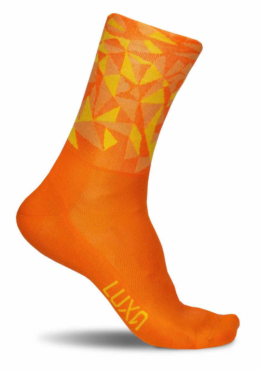 Kolorowe skarpety kolarskie MEDANO ORANGE - soczysta pomarańcza