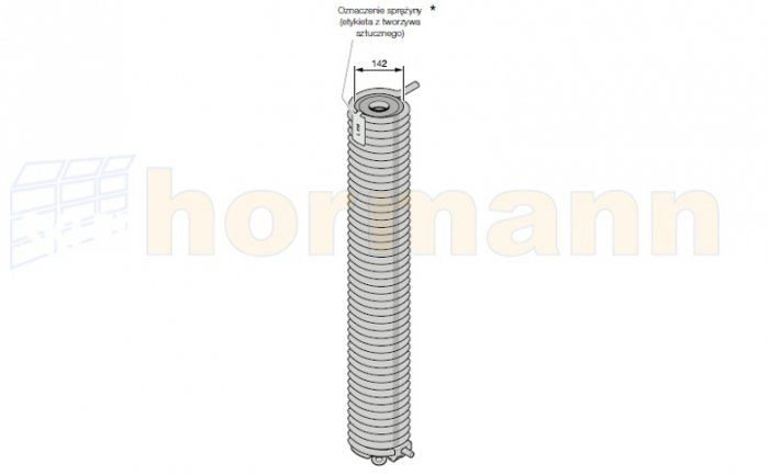 Sprężyna do bramy przemysłowej segmentowej Hormann SPU, model do wyboru
