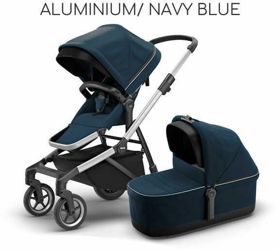 THULE SLEEK 2W1 DARMOWA DOSTAWA! ODBIÓR OSOBISTY! - Aluminium/ Navy Blue