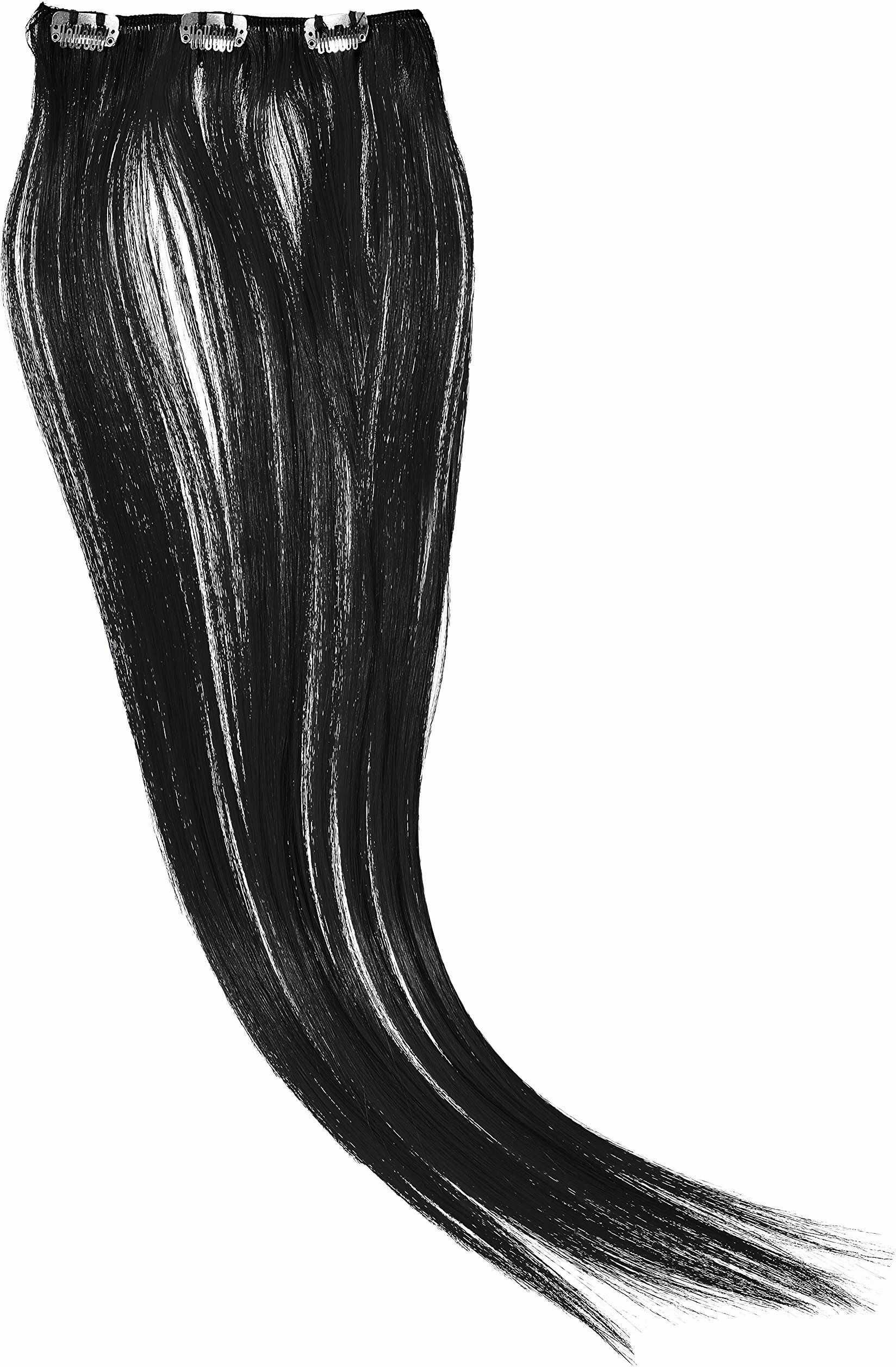 Hairaisers Clip and Go Extensions, 45 cm sztuczne włosy, czarne, 1 sztuka