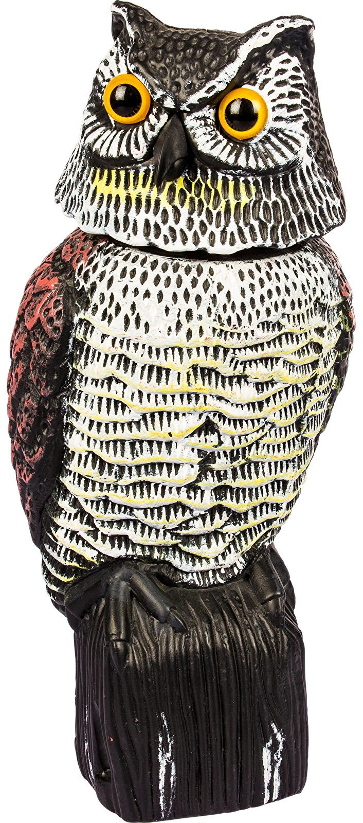 Sowa z ruchomą głową - odstraszacz ptaków