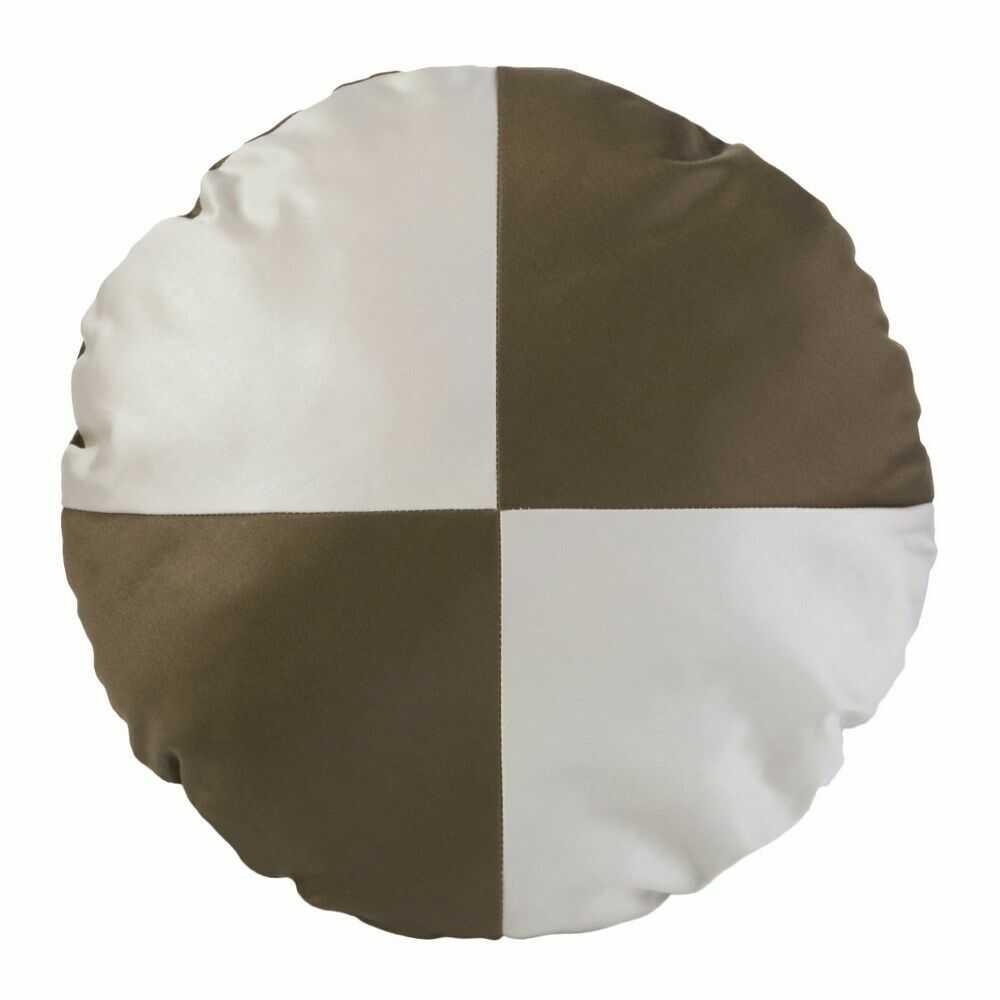 Poduszka dekoracyjna śr.40cm. Nova beżowa brązowa Eurofirany