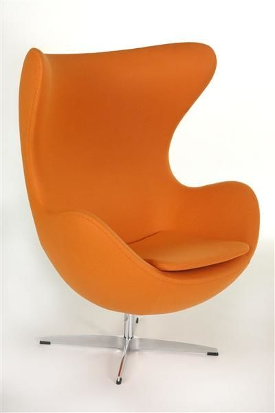 Fotel Jajo pomarańczowa skóra 67 Premium
